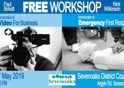 SEVENOAKS FREE WORKSHOP – Video for Business and Emergency First Response