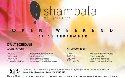 Shambala Spa Opening Weekend – 21st & 22nd September