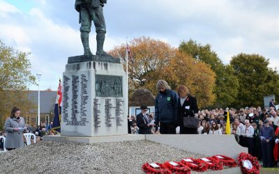 Annual Remembrance Sunday service and parade on The Vine